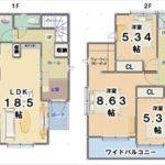 1号棟【2280万円】(間取)